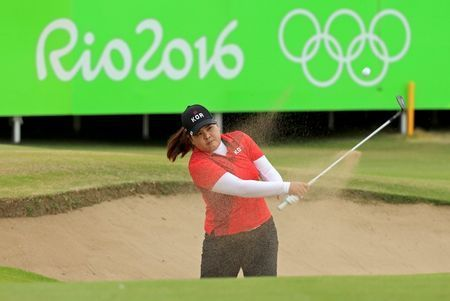 GOLD IN GOLF : Inbee Park hasn't won all year on the LPGA. She has been recovering from ligament damage in her thumb and didn't play in the last two majors. But on Saturday, the seven-time major winner took command with a 5-under 66 and won a GOLD medal. http://www.sfchronicle.com/sports/article/Brazil-seeks-gold-in-soccer-as-US-goes-for-more-9174946.php