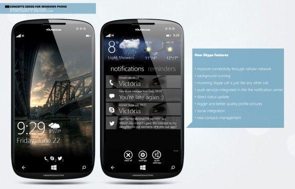 New Skype Concept on Windows Phone