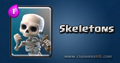 Find out all about the Clash Royale Skeletons Card. How to get Skeletons & attack/counter Skeletons effectively.
