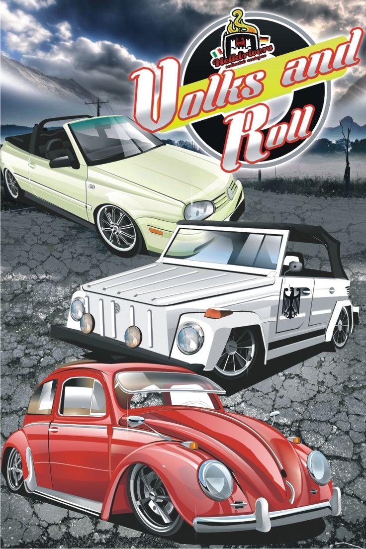 Poster para evento VW Mexico VW ART DIBUJOS VOCHOS VW BUG