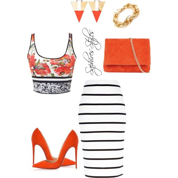 Spiced by saginesaphire on Polyvore featuring polyvore fashion style Clover Canyon River Island Christian Louboutin Karen Millen H&M