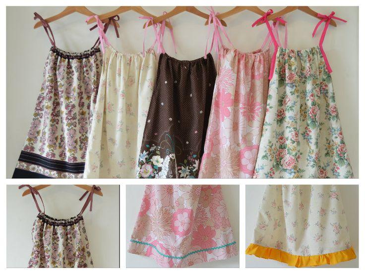 Handmade reclaimed fabric summer dresses