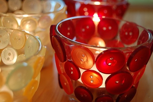 button covered candle holders!!!