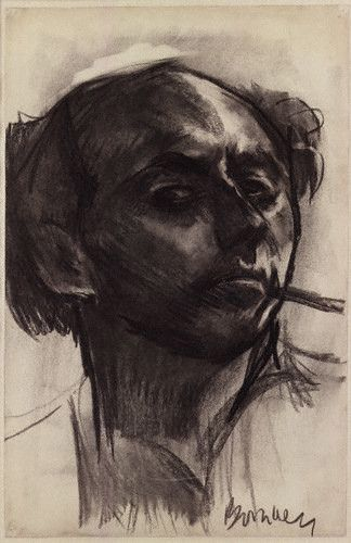 Bomberg, David (1890-1957) - 1931 Self Portrait (National Portrait Gallery, London)    Charcoal and wash; 19 1/2 in. x 12 3/4 in.