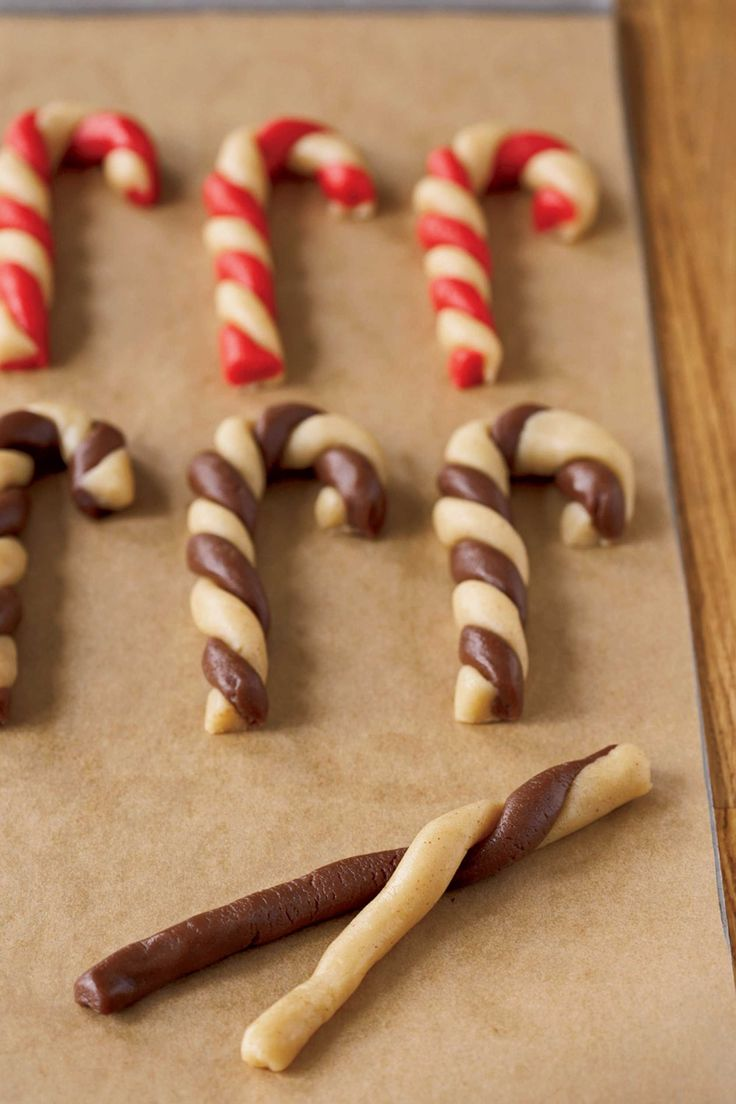 Candy Cane Twist Cookies  - CountryLiving.com