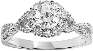 Simply Vera Vera Wang Diamond Engagement Ring in 14k White Gold (1 ct. T.W.) #bride #wedding #jewelry #bridaljewelryideas