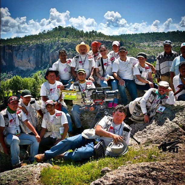 Crew de Verdeespina Studios en la Sierra Tarahumara.