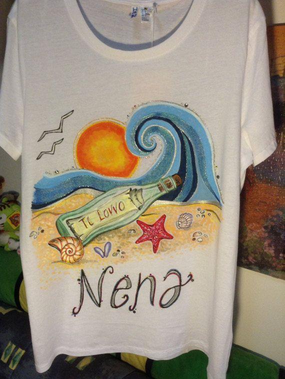 Custom handmade T-Shirt by Silviartshop on Etsy