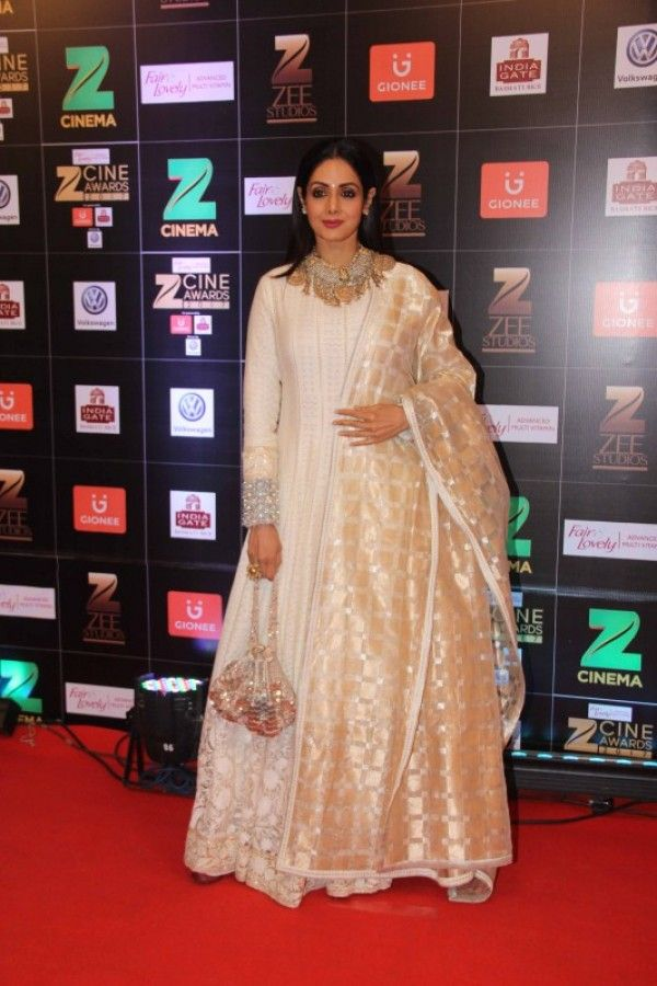 Boney Kapoor along with his wife and actor Sridevi spotted at at Zee Cine Awards 2017. - Photo Gallery