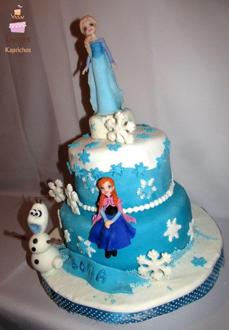 Torta Frozen, Princesas Ana y Elsa #TortaFrozen #TortasDecoradas #DulcesKaprichos