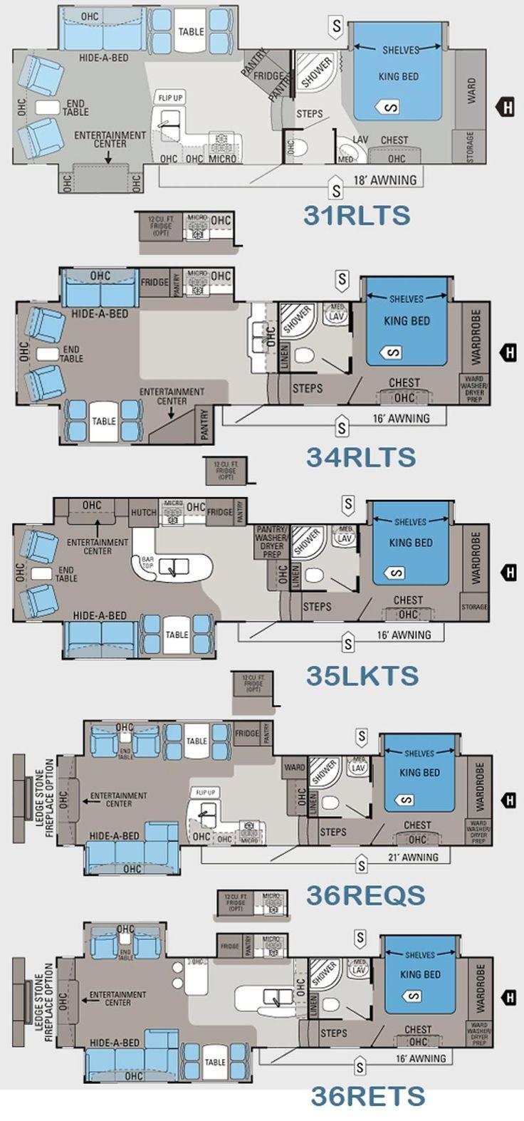 Jayco Travel Trailer Floor Plans Part - 40: Continental Coach 43u0027 Double Bedroom Floorplans | RVu0027s With Bunk House |  Pinterest | Double Bedroom, Camper Flooring And Rv
