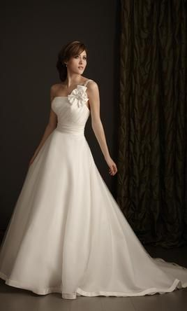 Sample Allure Wedding Dress P889, Size 10Onestrap Flower, One Straps Flower, Wedding Dressses, Strapless Dresses, Flower Options, Dresses Ideas, Dresses P889, Allure Bridal, Bridal Wedding Dresses