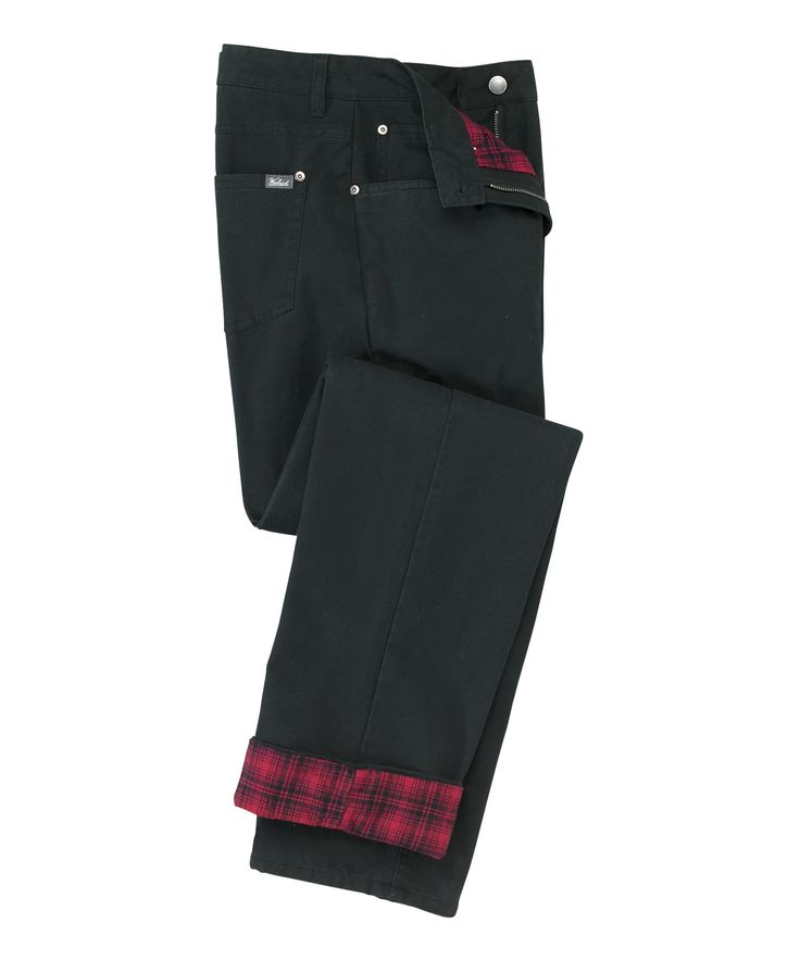 Women's Classic-Fit Flannel-Lined Pants by WOOLRICH® The ...