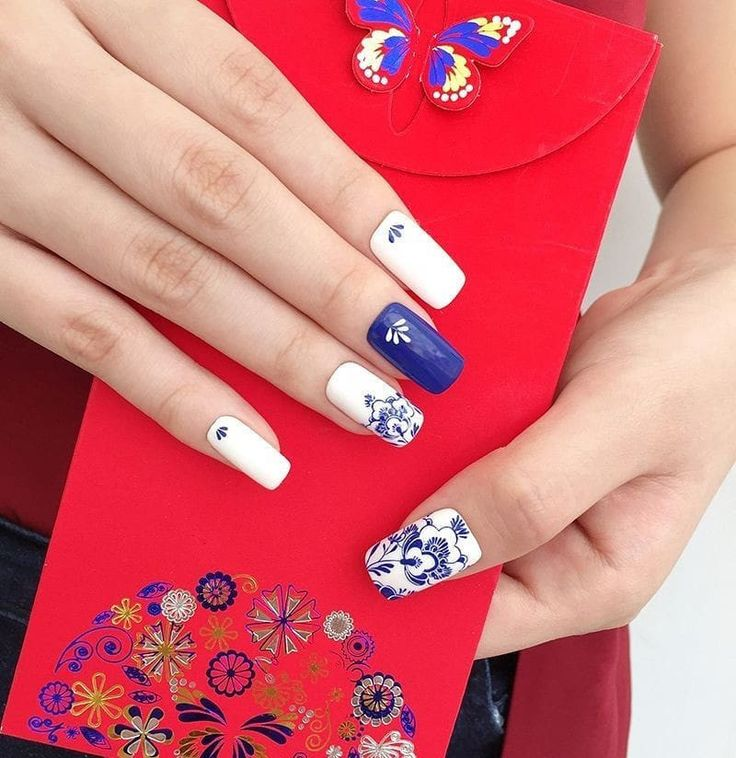 70+ Cute and Trendy Square Nails Design New years nail