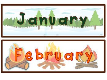Forest/Camping Themed Calendar Set /elementary classroom/ bulletin board ideas/ forest camping theme