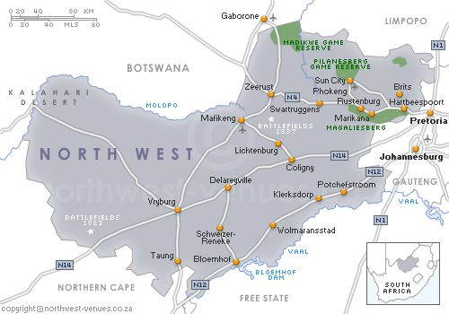 Map of the North West