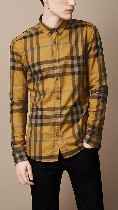 Burberry - EXPLODED CHECK COTTON SHIRT