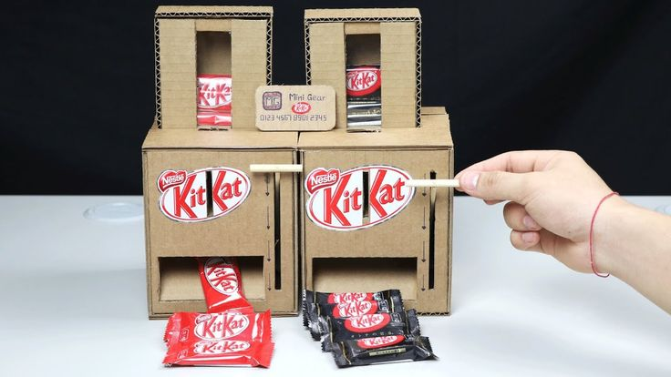 Wow Diy Kitkat Chocolate Vending Machine Cardboard Box