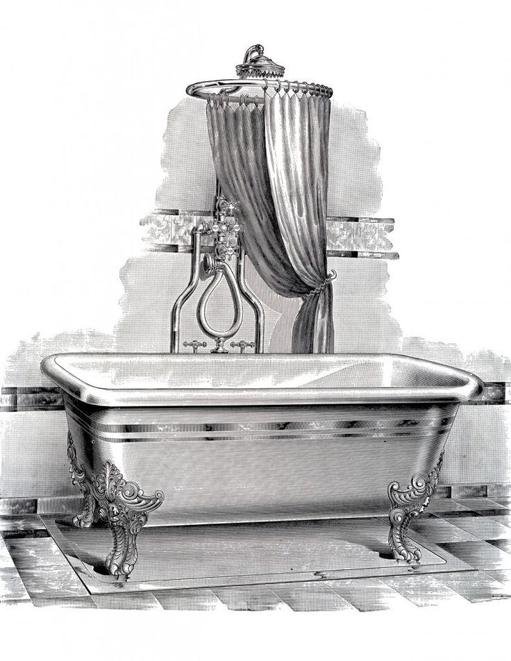 Antique Bathtub Picture Free Printable Printable Vintage Art Bathtub Pictures Antique Bathtub