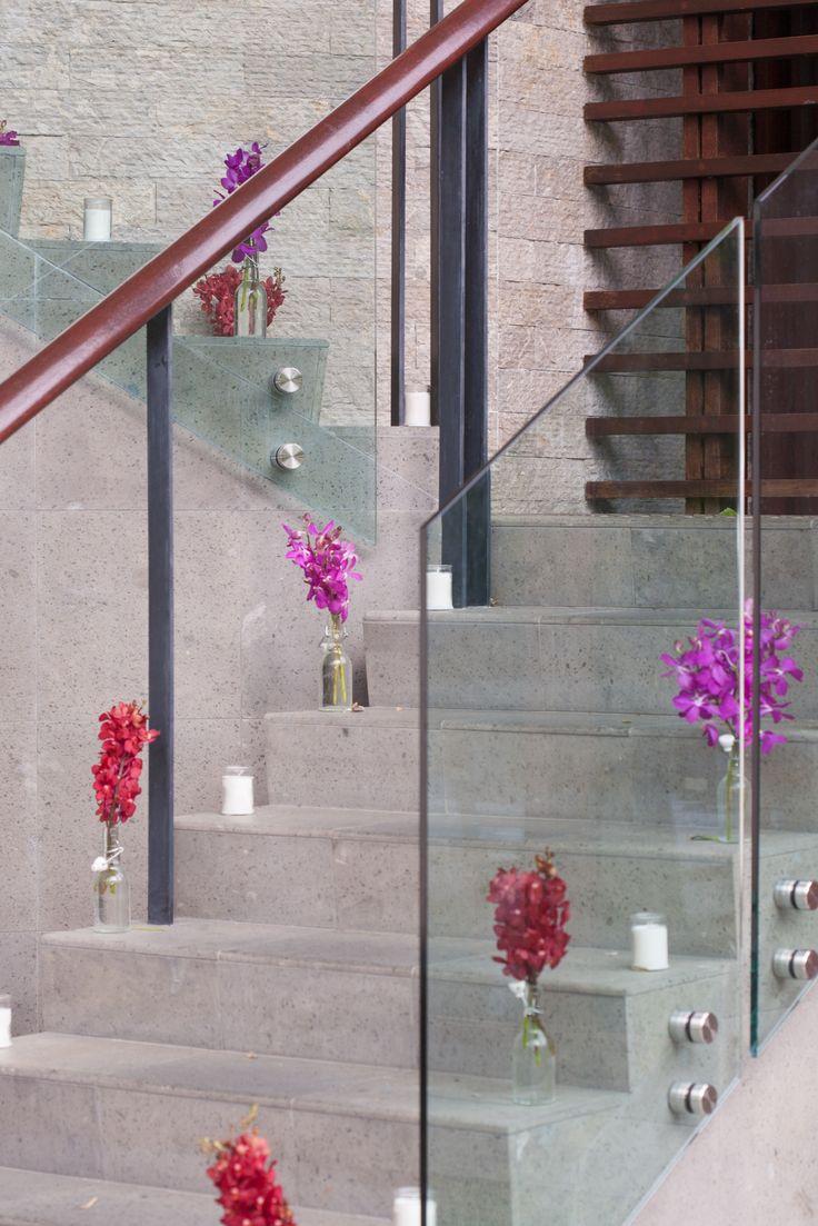 Niramaya Staircase w/ Flower Jars & Candles!