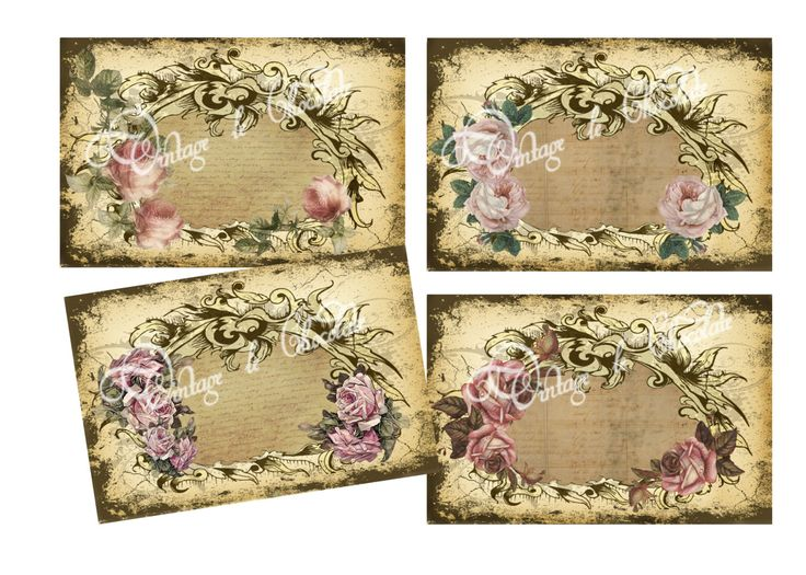 Digital Victorian Collage paper with lovely vintage roses and shabby chic scroll edges. Many uses for these, an invitation, save a date and your imagination. You will receive 4 papers in a size 4 x 6.These are digital files, no tangible item is sent.  When you buy this listing, you will receive:  4 Digital 4 x 6 cards as described. 1 Zip compressed files  See FAQ section for additional information.  By purchasing, you agree to the Terms of Use as explained in my FAQ section.  **Copyright…