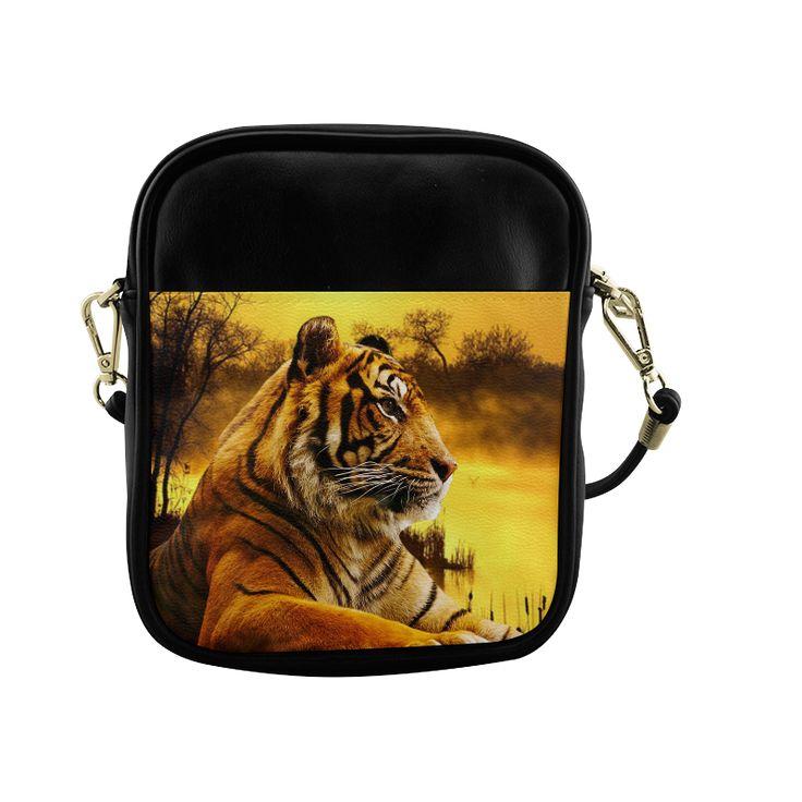Tiger and Sunset Sling Bag (Model 1627)