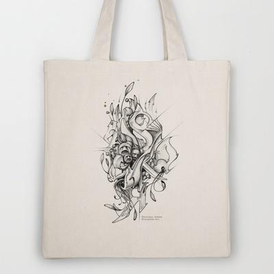 DinamInk #01 Tote Bag by Original Asker - $18.00