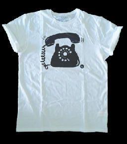 Camiseta teléfono antiguo, objetos antiguos diseño dibujo ilustración draw