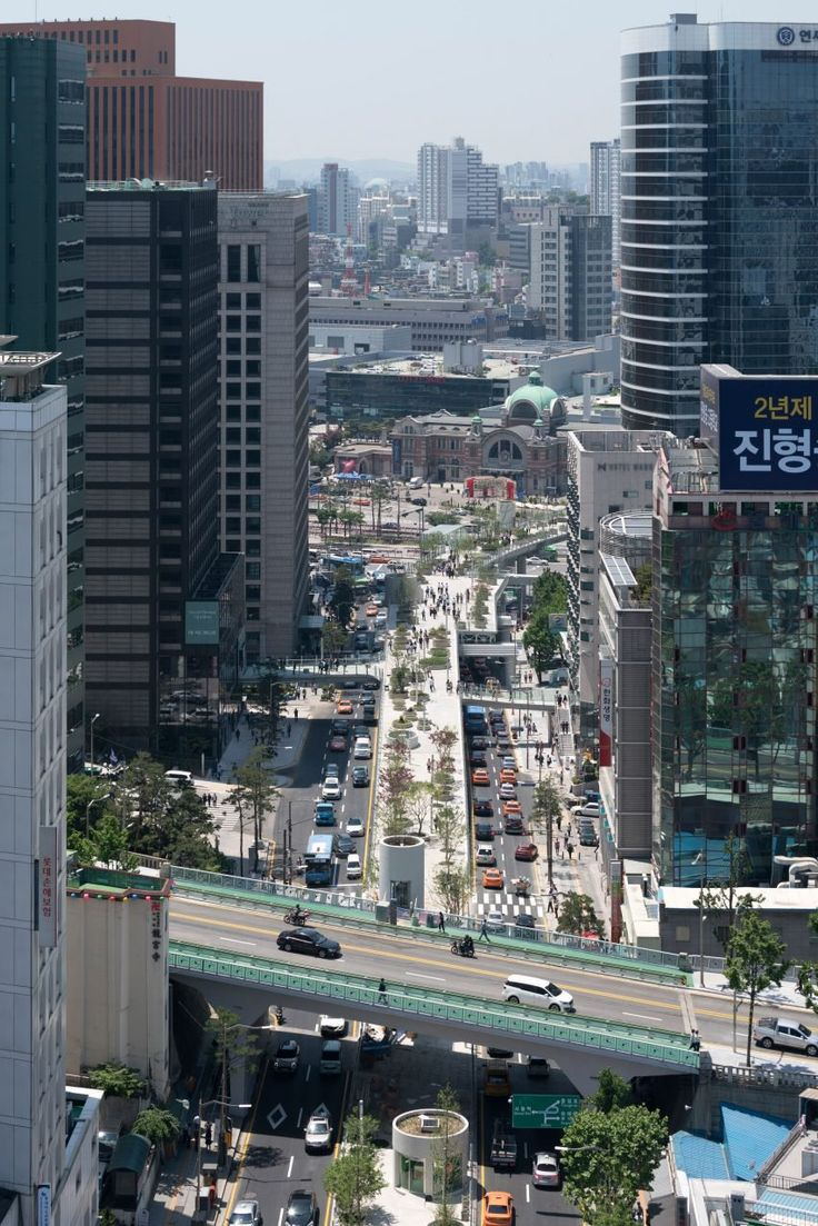 South Korea's answer to New York's High Line, the 983-metre-long park occupies a stretch of the 1970s highway destined for demolition. It now contains 24,000 trees, shrubs and flowers set into cylindrical planters.