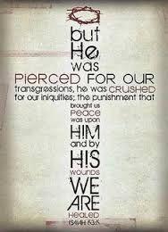 Bildergebnis für isaiah 53:5 niv
