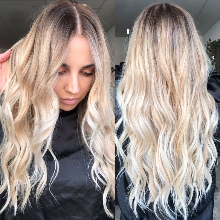 Blonde balayage long hair cool girl hair lived in hair colour blonde bronde brunette golden - Blond polaire maison ...