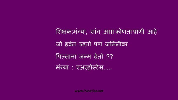 Air Hostess Marathi Joke