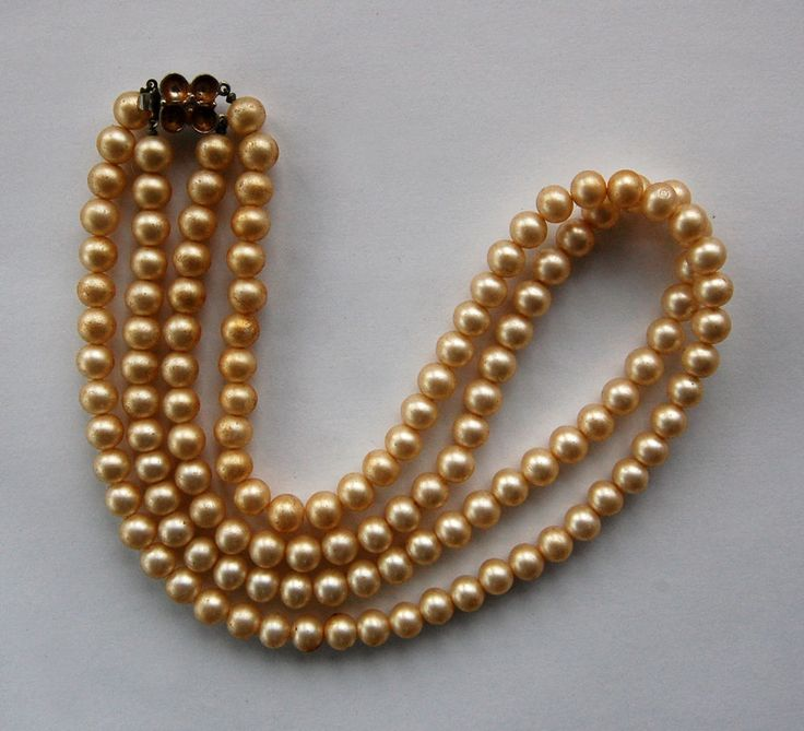 15 Vintage Antique Pearl Pearls Necklace Double Strand 19