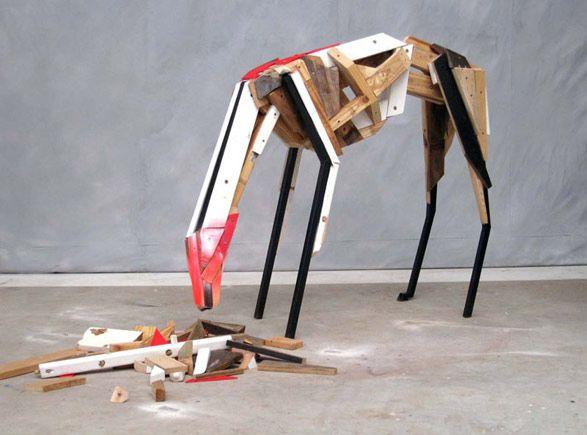 Cezary Stulgis - You Are What You Eat  Ambigious animal sculpture made of wood  http://tjg.com.au/cezary-stulgis
