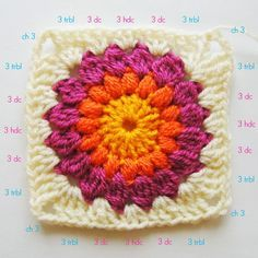 FIFIA CROCHETA blog de crochê : crochê para iniciante: quadradinho de crochê com tutorial