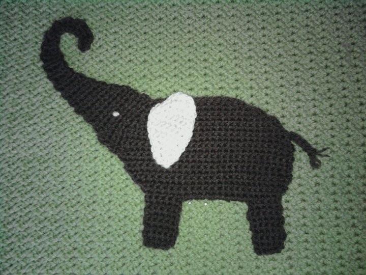 Crocheted Elephant Baby Blanket Baby Blanket Crochet