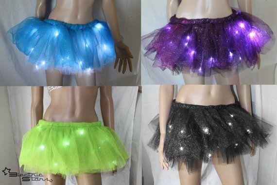 Sparkle LED Light up Tutu Skirt Custom by ElectricStarsDesign