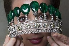 Diamond and emerald tiara once belonging to the Duchess of Windsor, sold in May for $12.7 million