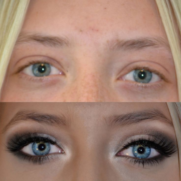 Tips to make your eyes pop!  Remember, if your eyes are close set toward the nose like this photo. highlight dark shadows away from the nose!!!! This is exactly the right way to pull that closeness away from the nose.
