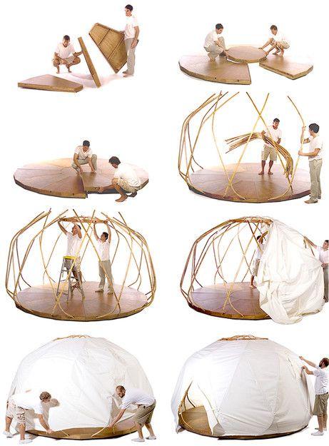 The Nomad Yurt by EcoShack (NOTCOT) outdoor wicker... | Wicker Furniturewww.wickerparadise.com