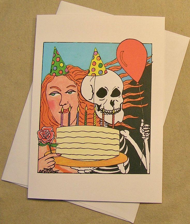 The 24 best grateful dead birthday cards images on pinterest grateful dead birthday card lady and skeleton regular size and mini version a lunar eclipse cartoon birthday card m4hsunfo