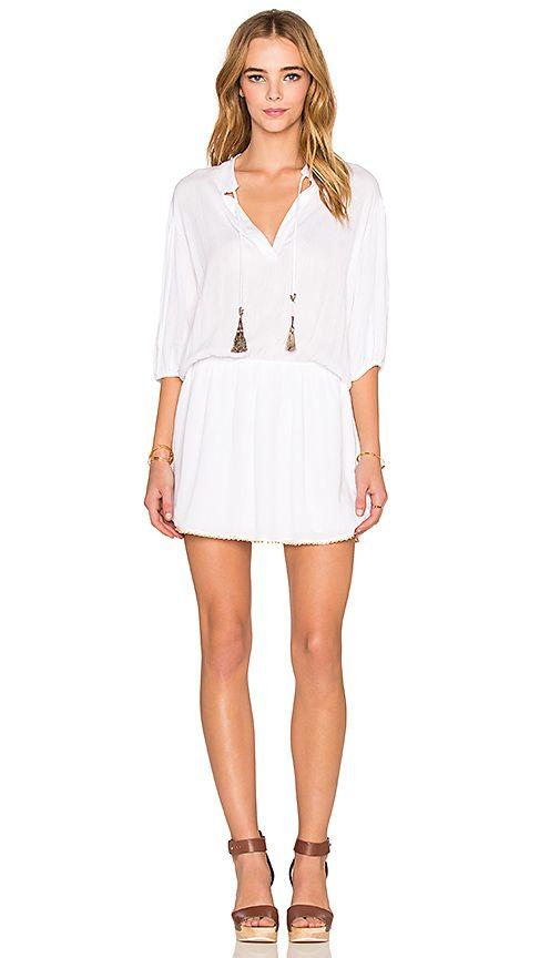 T-Bags LosAngeles V Neck Mini Dress in Sea Salt   REVOLVE