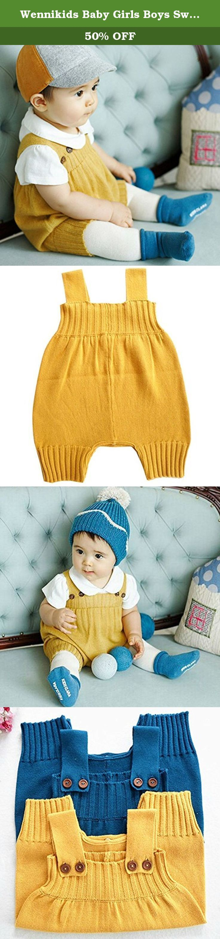 "Wennikids Baby Girls Boys Sweater Shoulder Strap Romper Large Yellow. Material:55% Cotton 2 Sizes suit for 6-24Months Baby Comfortable and soft. Make your baby so cute. Great for daily wear or photograph Have button on the straps,and have button on the bottom Size chart as follows: Size: M(6M); Length including the straps: 50cm/19.8"";Chest:63cm Age:6-12month Size: L(12M); Length including the straps: 52cm/ 20.5"";Chest:66cm Age:12-24month If you are satisfied with our products, Hope you…"