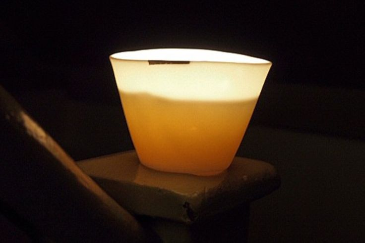 Lovely picture By Cesar Perin of one of my porcelain candles this one ended with platinum