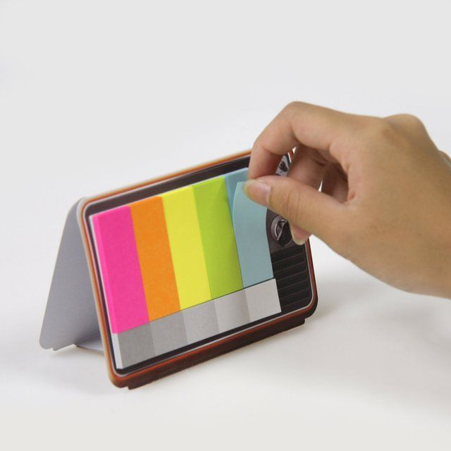 Mini Color TV Sticky Memo Pad #Colorful, #Memo, #Sticky, #TV