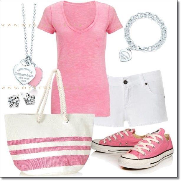 розовые Converse кеды