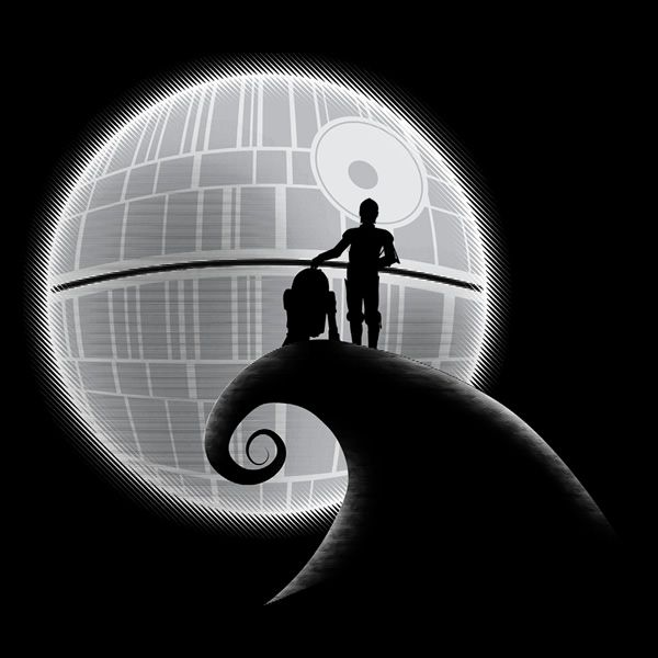 That's no moon! Star Wars Nightmare Before Christmas