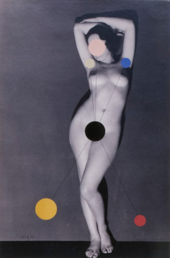 ManRay, Hier (Kiki de Montparnasse) Detail, 1930/1965, Vintage silver gelatin prints and collage