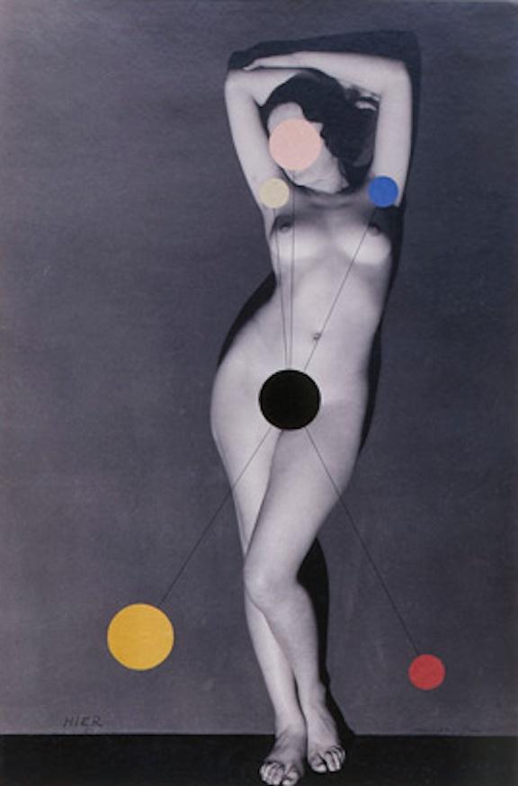 ManRay, Hier (Kiki de Montparnasse) Detail, 1930/1965, Vintage silver gelatin prints and collage