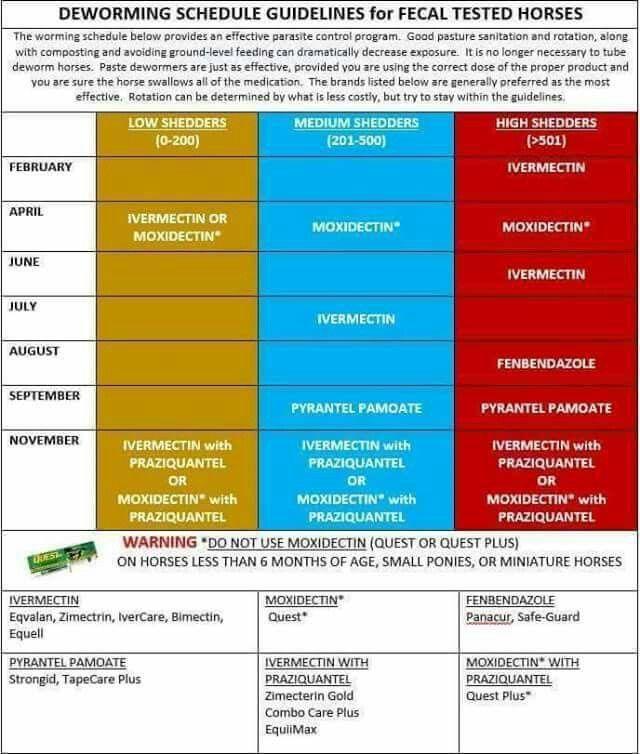 Worming schedule